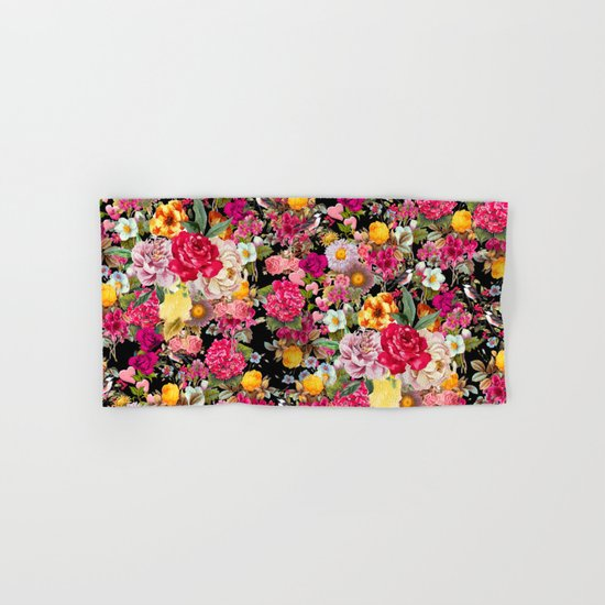 Fashion Botanic Pattern Hand & Bath Towel