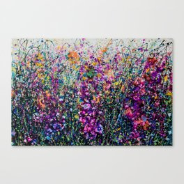 Hollyhock Fantasy Pollock Inspired Abstract Canvas Print