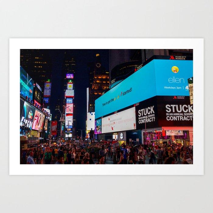 Iconic Time Square Art Print