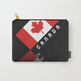 Elegant Maple Leaf Canada Carry-All Pouch