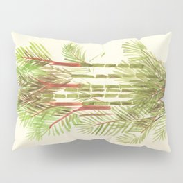 Palmier Rouge - Red Palmtree Pillow Sham