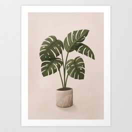 Monstera Vase Art Print