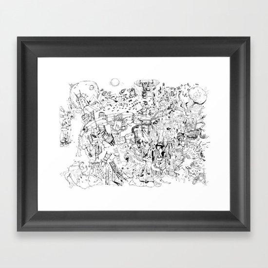 Fragments of dream Framed Art Print