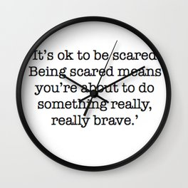 Really, Really Brave Wall Clock