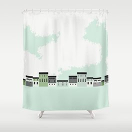 Barns & Clouds Shower Curtain