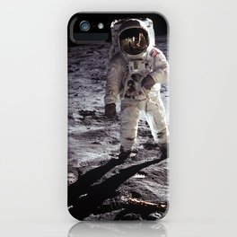 Apollo 11 - Buzz Aldrin On The Moon iPhone Case