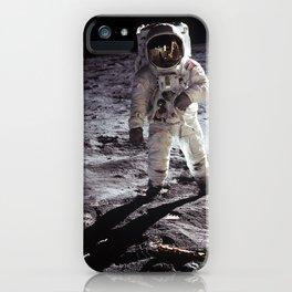 Apollo 11 - Iconic Buzz Aldrin On The Moon iPhone Case