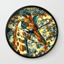 AnimalArt_Giraffe_20170902_by_JAMColorsSpecial Wall Clock