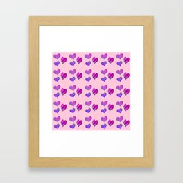 Hearts with Structure (pink) Framed Art Print