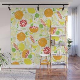 Citrus Zing (white) Wall Mural