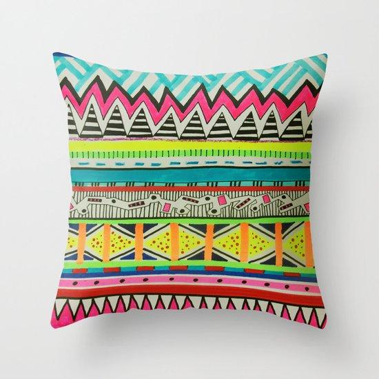 VIVID EYOTA Throw Pillow