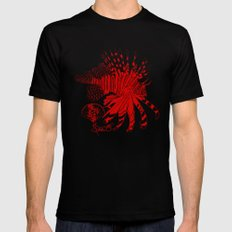 Chinese Cut Out Lion Fish MEDIUM Mens Fitted Tee Black