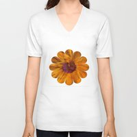 karu kara V-neck T-shirts featuring The Beauty of Maturity by Klara Acel