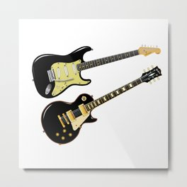 Elecric Guitars Metal Print