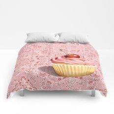 Pink Cupcake Paisley Bandana Comforters