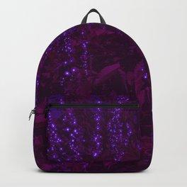 Glowing Purple Moon Flowers Backpack