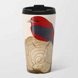 Bird on a Log Metal Travel Mug