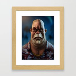 Mike Tyson Punch Out- King Hippo Framed Art Print
