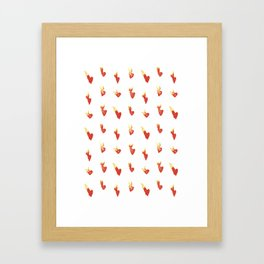 Hearts on Fire Framed Art Print