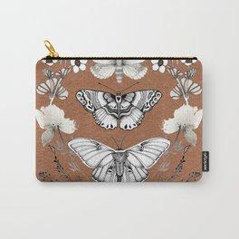 Three Moths Burnt Orange Carry-All Pouch