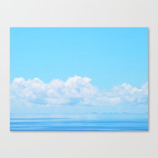 Pacific blues Canvas Print
