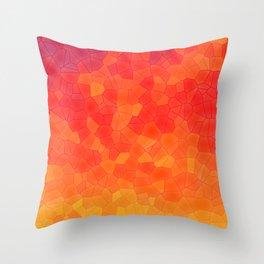 Mosaic Lake of Fire Throw Pillow