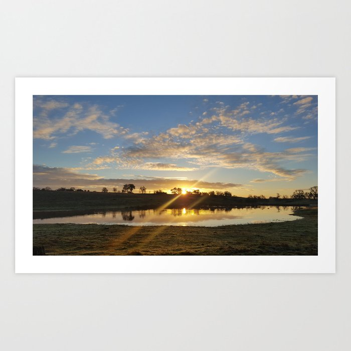 Inbetween Country and Paradise Art Print