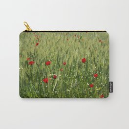 Red Poppies Growing In A Corn Field  Carry-All Pouch