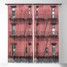 NY Red Brick Blackout Curtain
