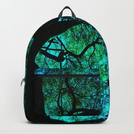 Under The Tree Blue and Green Backpack