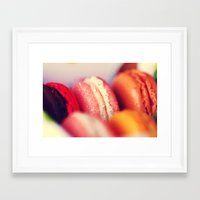 macaroons Framed Art Prints featuring Macaroons by Sushibird