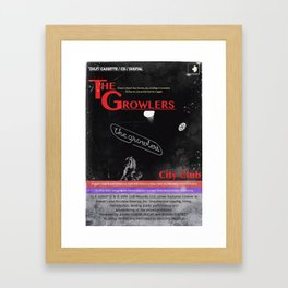 The Growlers Framed Art Print