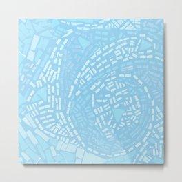 Happy lightful blue Mosaic Metal Print