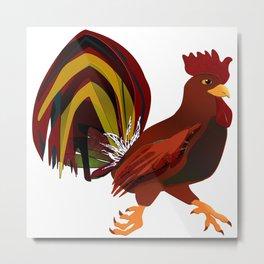 Feathery Noisemaker Metal Print