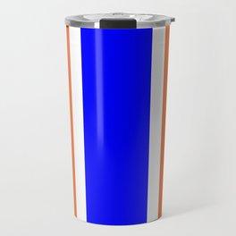 TEAM COLORS 10....ORANGE AND BLUE Travel Mug