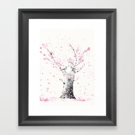 Cherry Blossoms And Birds Framed Art Print