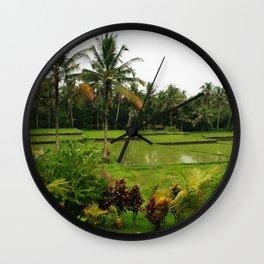 Bali - Rice Fields Wall Clock