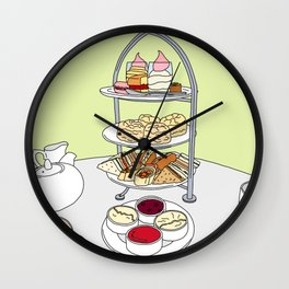 English Afternoon Tea Wall Clock