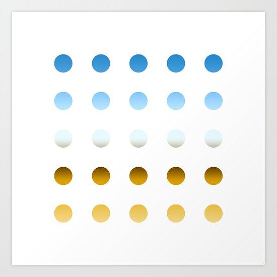 twentyfive dots o3 Art Print