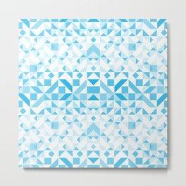 Geomtric Pastel Wave Metal Print
