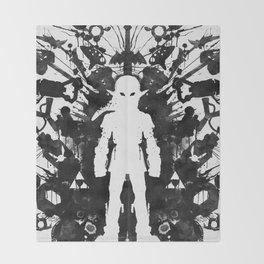 Ink Blot Link Kleptomania Geek Disorders Series Throw Blanket