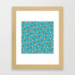 Lucky Cat Pattern Framed Art Print