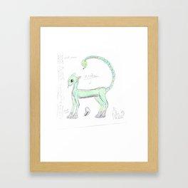 creature anatomy Framed Art Print