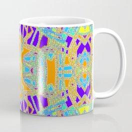 Turquoise Multi Colored Mosaic Style Pattern Coffee Mug