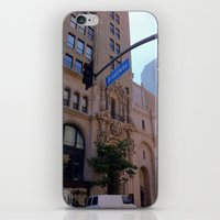 broadway iPhone & iPod Skins featuring Off Broadway by Jacqueline Obispo