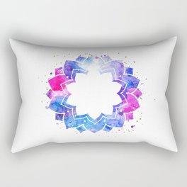 Star flower mandala Rectangular Pillow