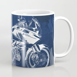 20-2012 Suzuki V-Strom 1000 SE, blueprint motorcycle, man cave decoration Coffee Mug