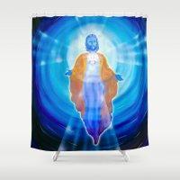 jesus Shower Curtains featuring Jesus by Walter Zettl