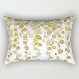 golden string of pearls watercolor 2 Rectangular Pillow