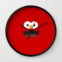 elmo Wall Clocks featuring Elmo by whosyourdeddy